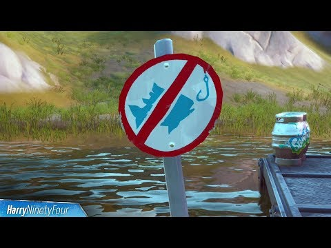 Catch An Item At Different No Fishing Signs All Locations - Fortnite