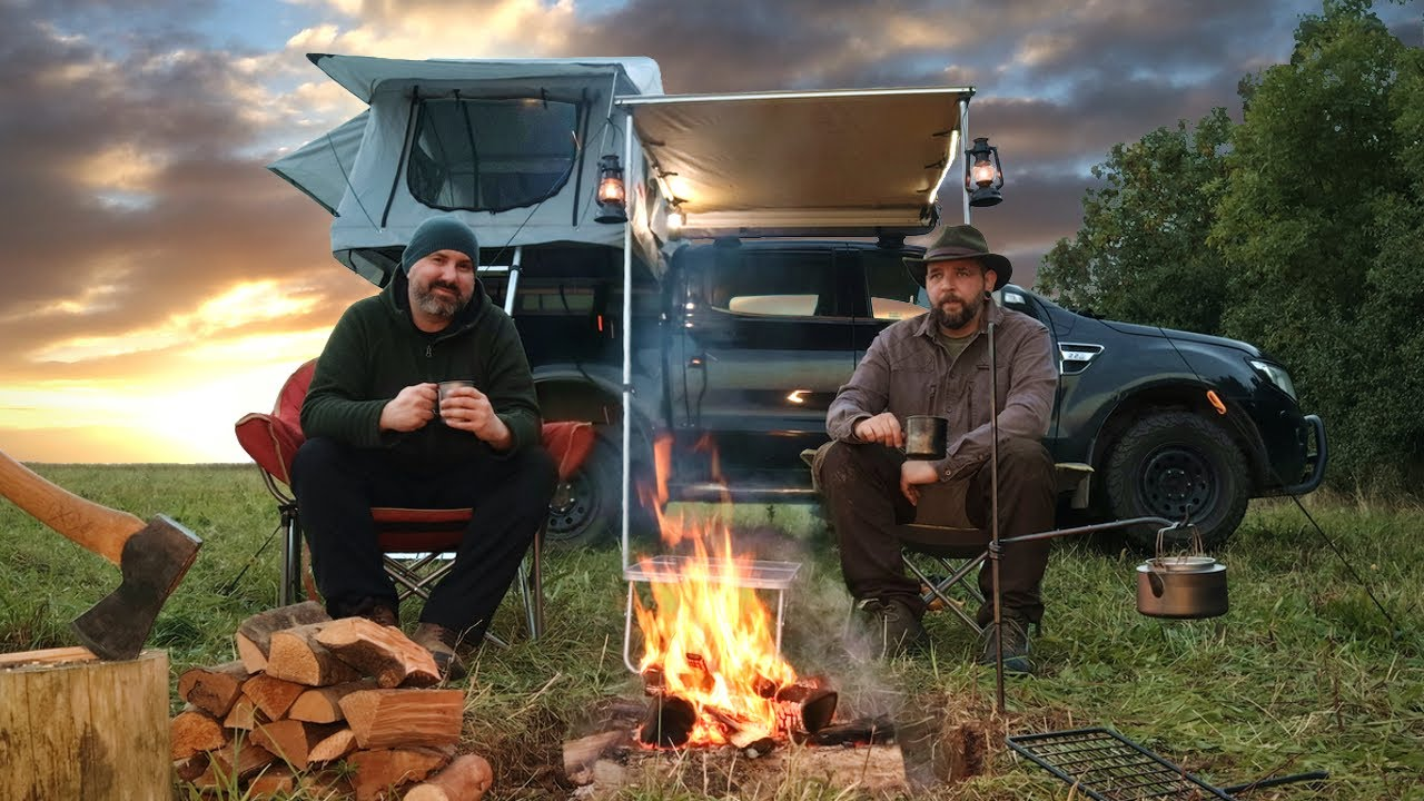 Truck Camping in a  Roof Tent