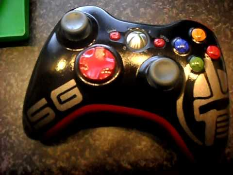 xbox 360 controller Battlestar Gallactica custom paint job ...