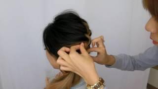 【解救手殘女】簡易側邊編髮造型 side swept hairstyle