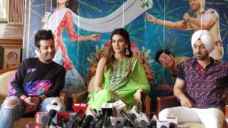 Diljit Dosanjh, Kriti Sanon & Varun Sharma in Delhi | Arjun Patiala Press Conference | Dinesh V |