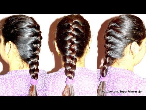 How to Basic French Braid Hair Tutorial Step by Step | SuperPrincessjo