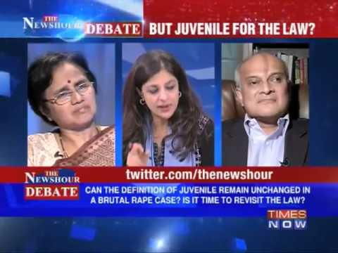 Dr Subramanian Swamy in Times Now Debate - Time to change the Juvenile law?