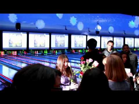 Best Flash Mob Marriage Proposal Bowling Alley Youtube