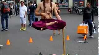 Magician Ramana Impossible Balance Indian Magic) in Leidseplein, Amsterdam