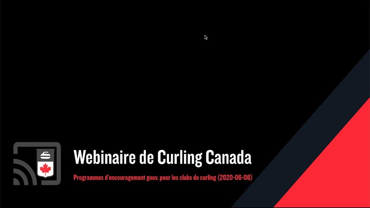 Programmes d'encouragement gouvernemental pour les clubs de curling (2020-06-08)