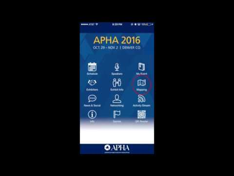 How to Use APHA 2016 Mobile App