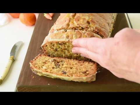Carrot Ginger Spice Bread with Orange Glaze