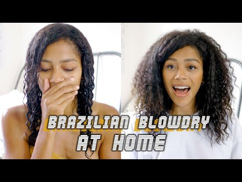 THE HAIR I ALWAYS WANTED   At Home Brazilian Blowdry/Keratin Treatment On NATURAL HAIR
