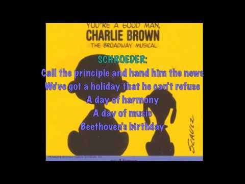 Beethoven Day-You're A Good Man, Charlie Brown (Lyrics)