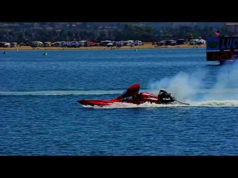 San Diego Bayfair Boat Drags 2012 - Slow Motion