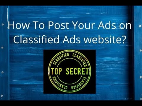 How To Post Your Ads on Classified Ads website. |RD Tech channel