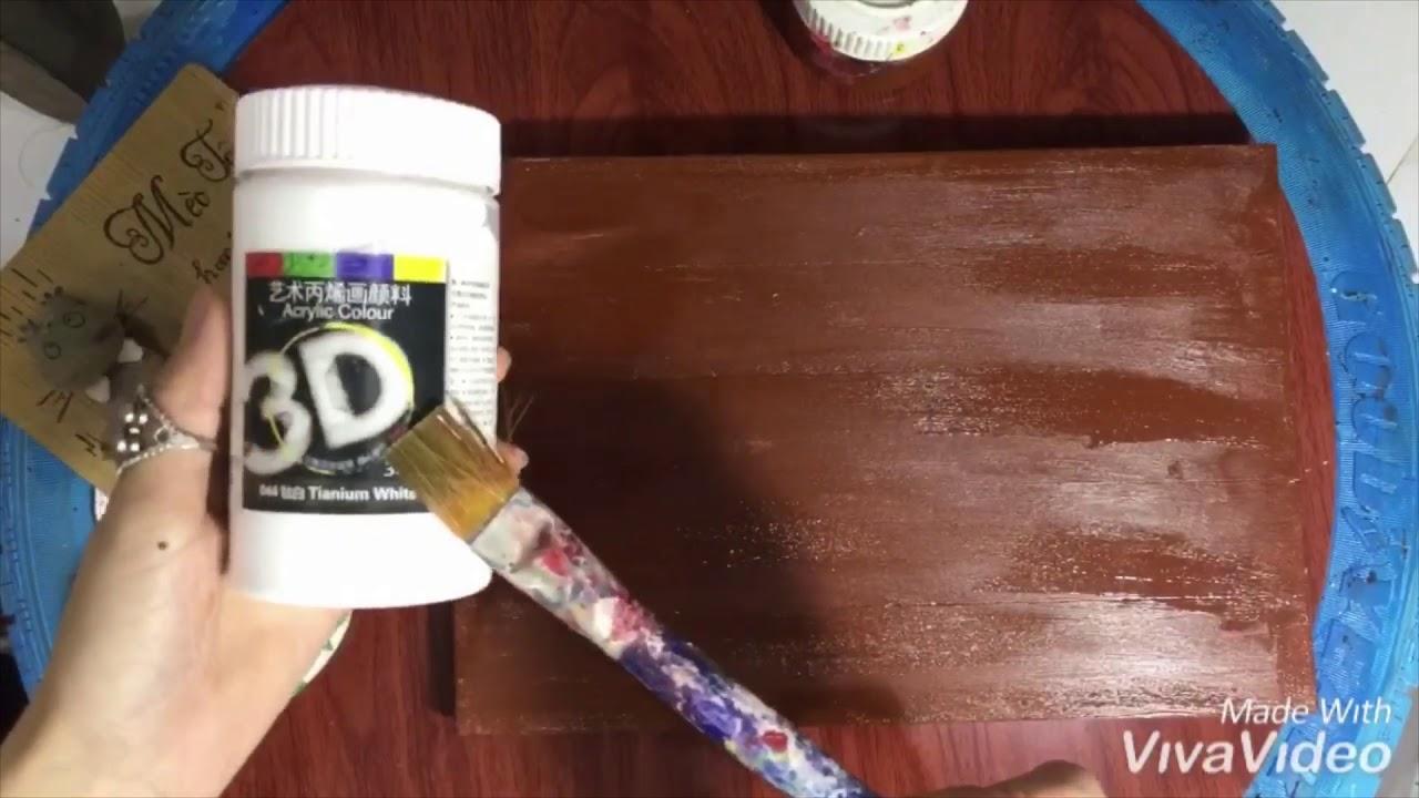 DIY- Wood painting ideas-Hướng dẫn vẽ tranh gỗ phong cách rustic đơn giản