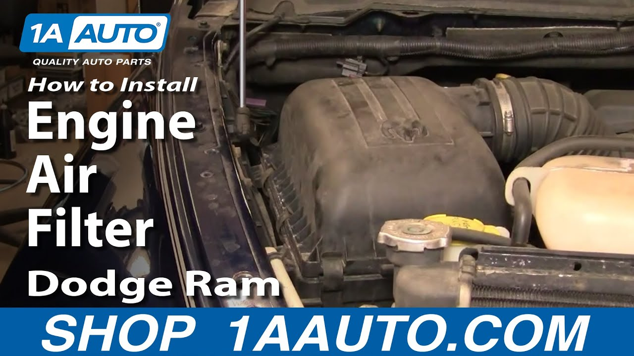 How To Install Repair Replace Change Engine Air Filter