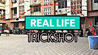 REAL LIFE TRICK SHOT | DUDE PERFECT JR