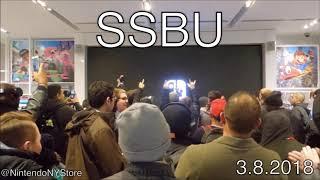 SUPER SMASH BROS. SWITCH REACTION NINTENDO NY STORE 3.8.2018