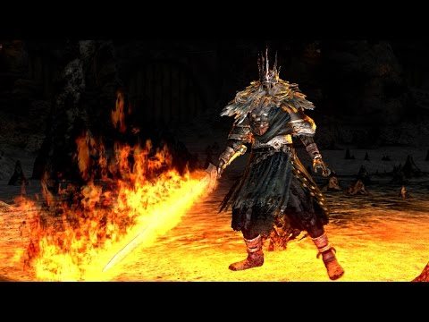 Dark Souls: Gwyn, Lord of Cinder Final Boss Fight and Ending (4K 60fps)
