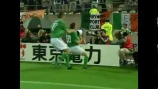 (HQ) Robbie Keane Last Minute Goal Republic of Ireland v Germany 2002 World Cup