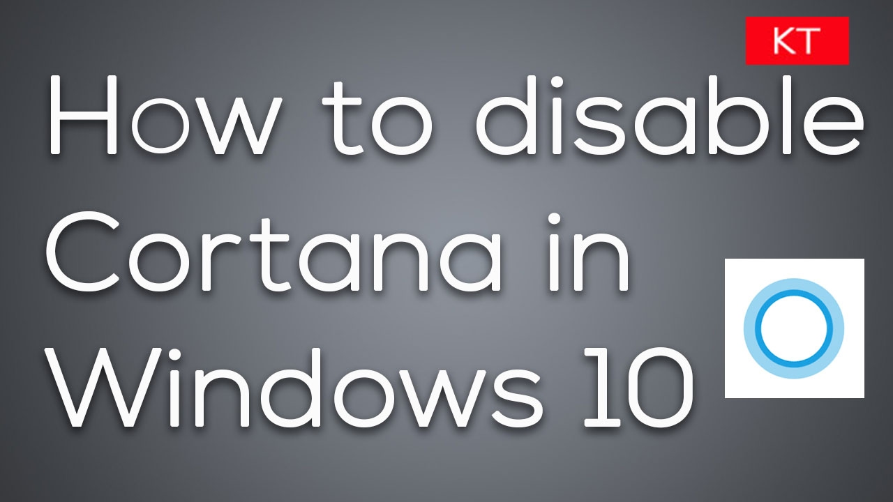 How to disable Cortana in Windows 10 anniversary using gpo or ...