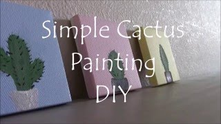 DIY Simple Cactus Painting