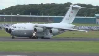 Kuwait Air Force KAF342 C-17A Globemaster III lands at Prestwick