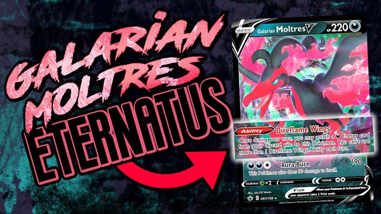Galarian Moltres V is so good with Eternatus VMAX!
