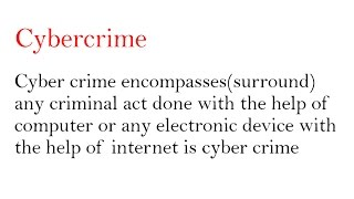 what is cybercrime and its types in hindi digital forensic