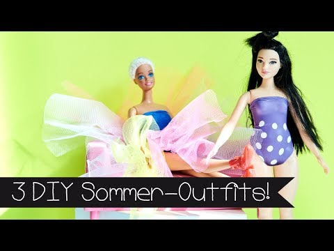 DIY | 3 SOMMER-OUTFITS | SELBER MACHEN | BARBIE | PUPPE