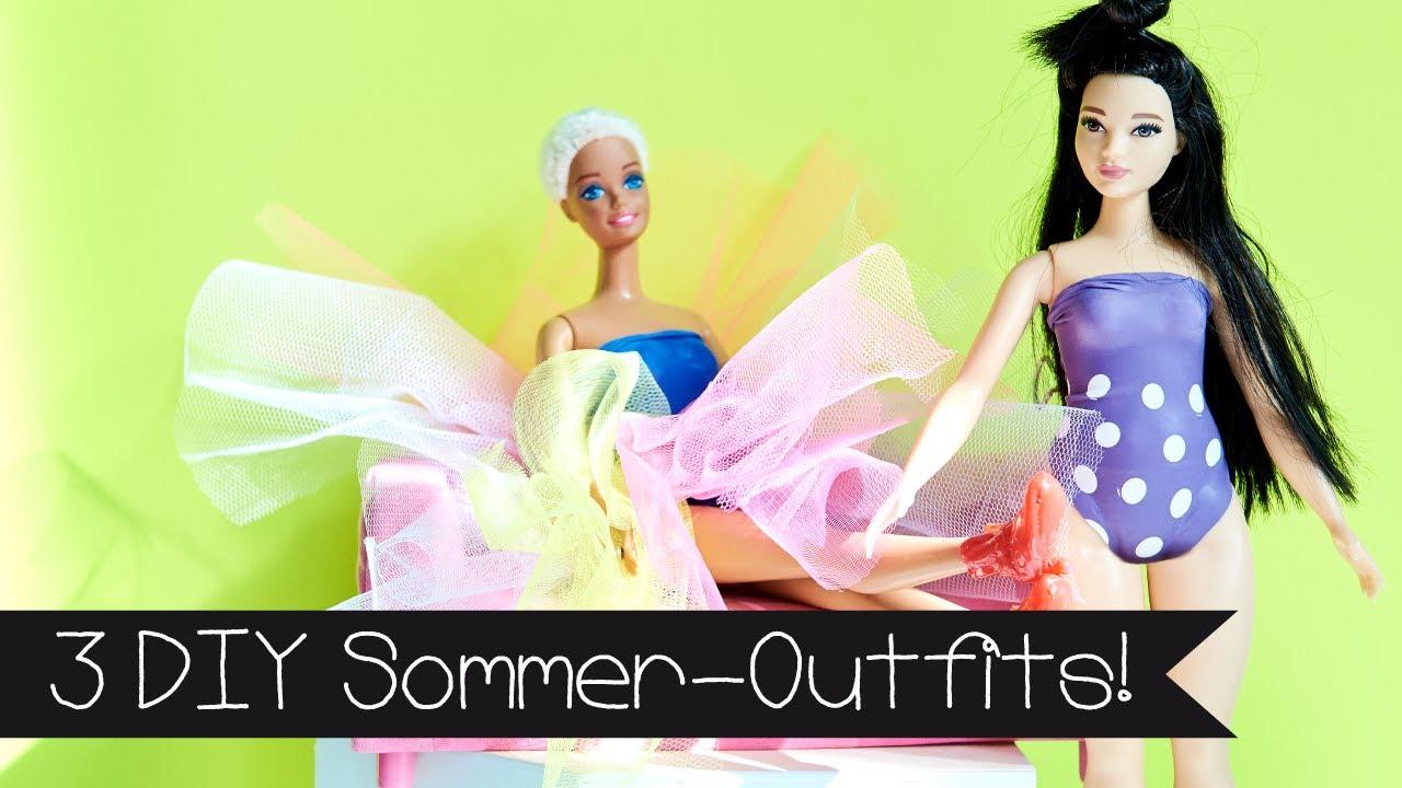 Diy 3 Sommer Outfits Selber Machen Barbie Puppe I Basteln
