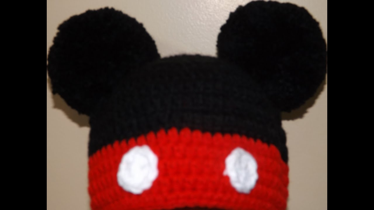 Crocheting With Mikey : Crochet Gorrito Mikey Mouse - YouTube