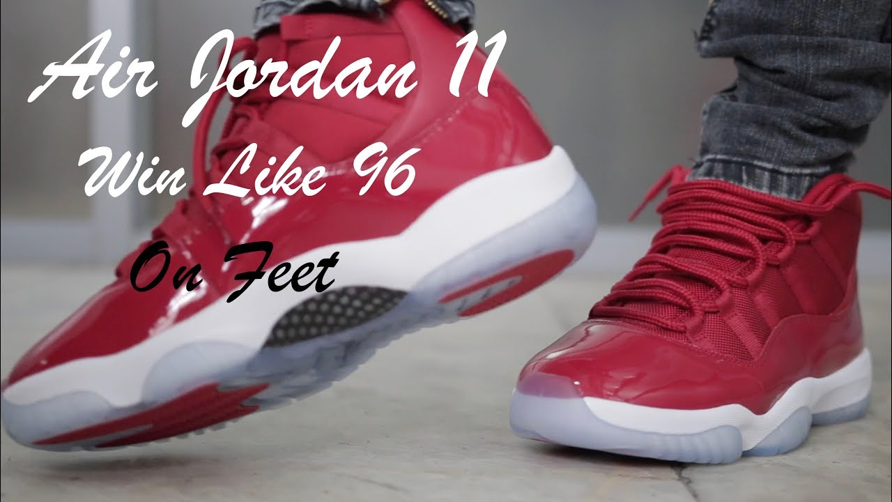outlet store 36377 661d0 Air Jordan 11 Win Like 96 Gym Red On Feet