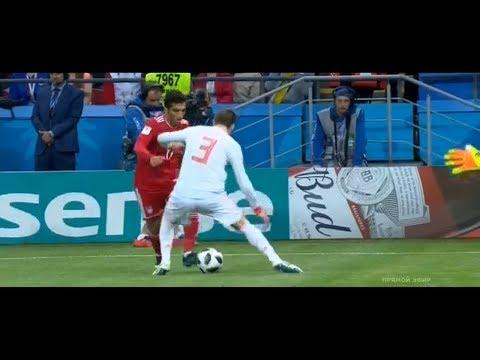 Vahid Amiri epic nutmeg skill vs Gerard Piqué