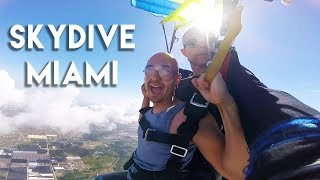 Skydiving Surprise in Miami - JUST DO IT! | Motivation to Conquer Fear Jumping out of Plane
