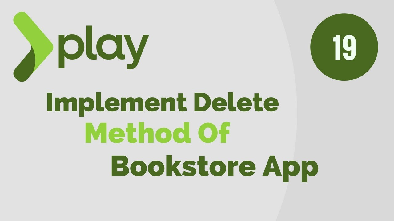 Play Framework Tutorial in Java # 19 |  Implement Delete Method of BookStore Application