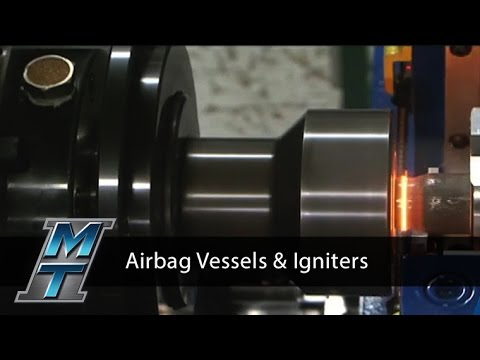 Inertia Friction Welder for Automotive Airbag Vessels and Igniters - Model 90B