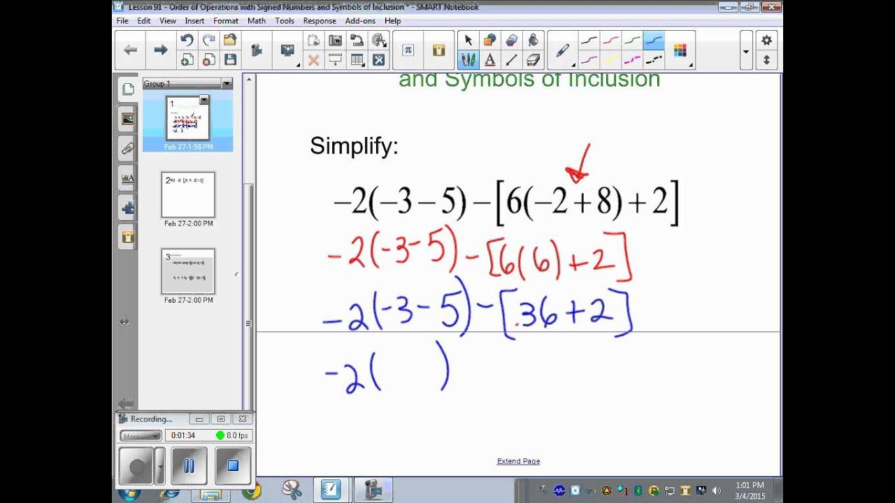 Saxon Math 5th Grade Lesson 91