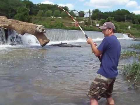 River Flathead Catfishing