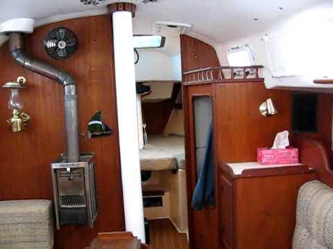 Interior of an Ontario 32 sailboat called Masai