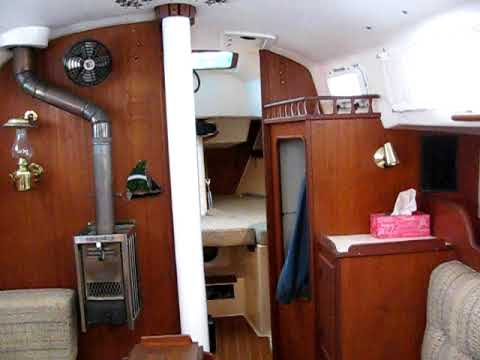 Interior Of An Ontario 32 Sailboat Called Masai Youtube