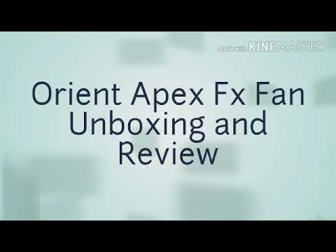 Orient Apex Fx Fan unboxing and review || value for money👍