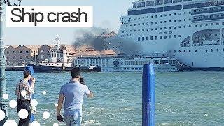 Cruise Ship Crashes into Tourist Boat in Venice