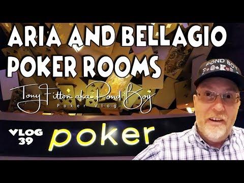 Aria & Bellagio Poker Rooms Las Vegas. Pond Boy Poker Vlog #39
