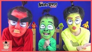 The angry birds movie Face Paint Makeup Challenge ♡ 앵그리버드 분장 실사판 싱크로율 120% 되다 | 말이야와아이들 MariAndKids