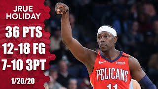 Jrue Holiday hits a career-high 7 3-pointers for Pelicans vs. Grizzlies | 2019-20 NBA Highlights