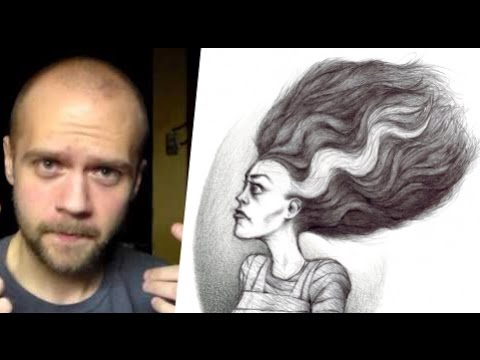 drawing-of-the-bride-of-frankenstein