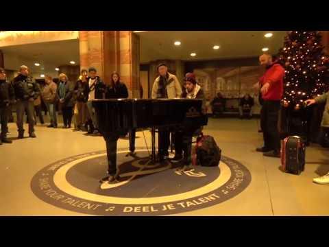 Public Piano - Amsterdam - Central Station.