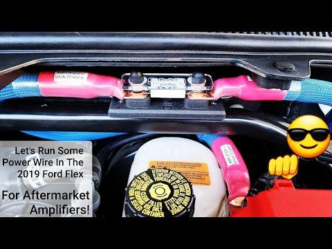 2019 FORD FLEX SEL AMP POWER WIRE RUN TUTORIAL