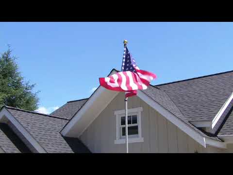 American Pride Tangle Free 12' Flag Pole With American Flag On QVC