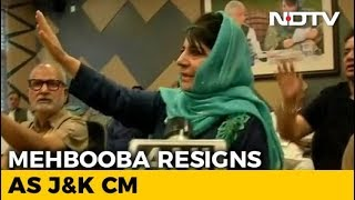 Mehbooba Mufti Resigns After BJP Ends Alliance With PDP in Jammu And Kashmir