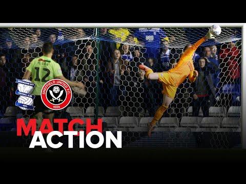 Birmingham 1-1 Blades - match action